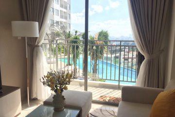 Cho thuê căn hộ The Sun 75m2 (2PN), full NT, view sông, hướng ĐN, tầng cao, giá 15 tr/th (Bao PQL). LH 0906271879